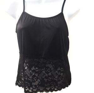 Other - 4/$20 Pretty black cami with lace front